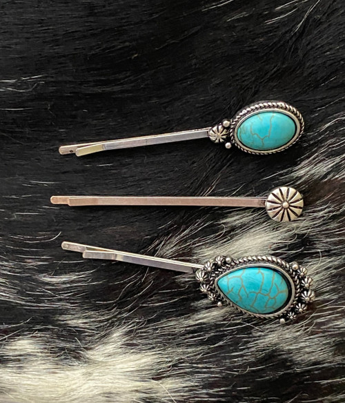 Turquoise Howlite Hair Pin Set