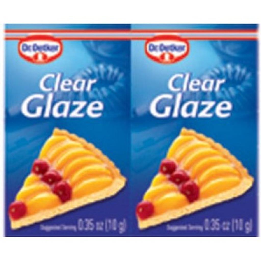 Dr. Oetker Cake Glaze Clear 2 Packets .35 oz per packet