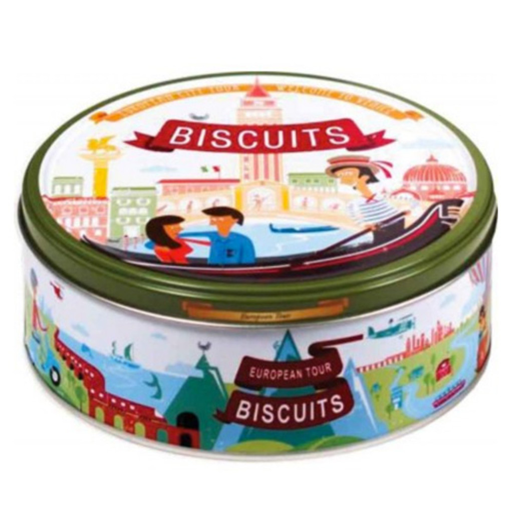 Jacobsens European Tour Danish Cookie Tin