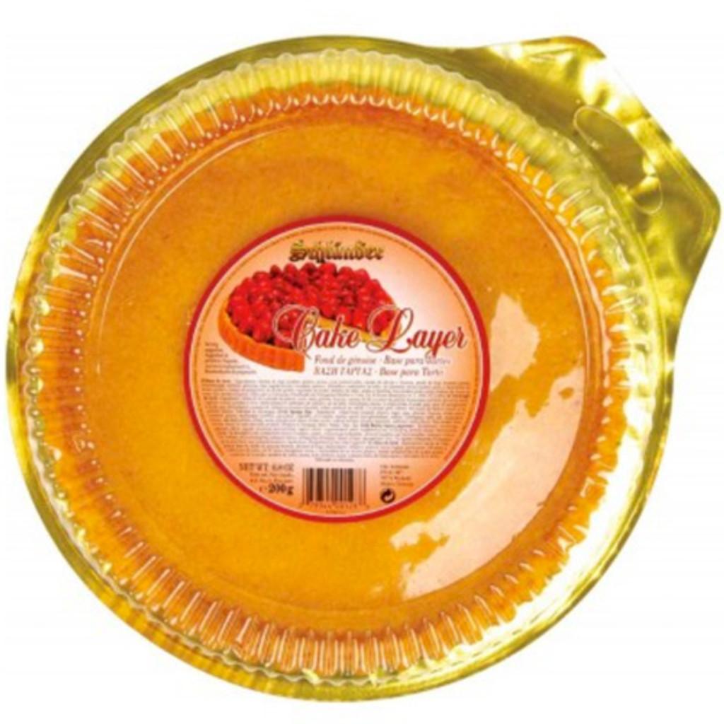 Schluender Flan Sponge Cake Layer 7 oz
