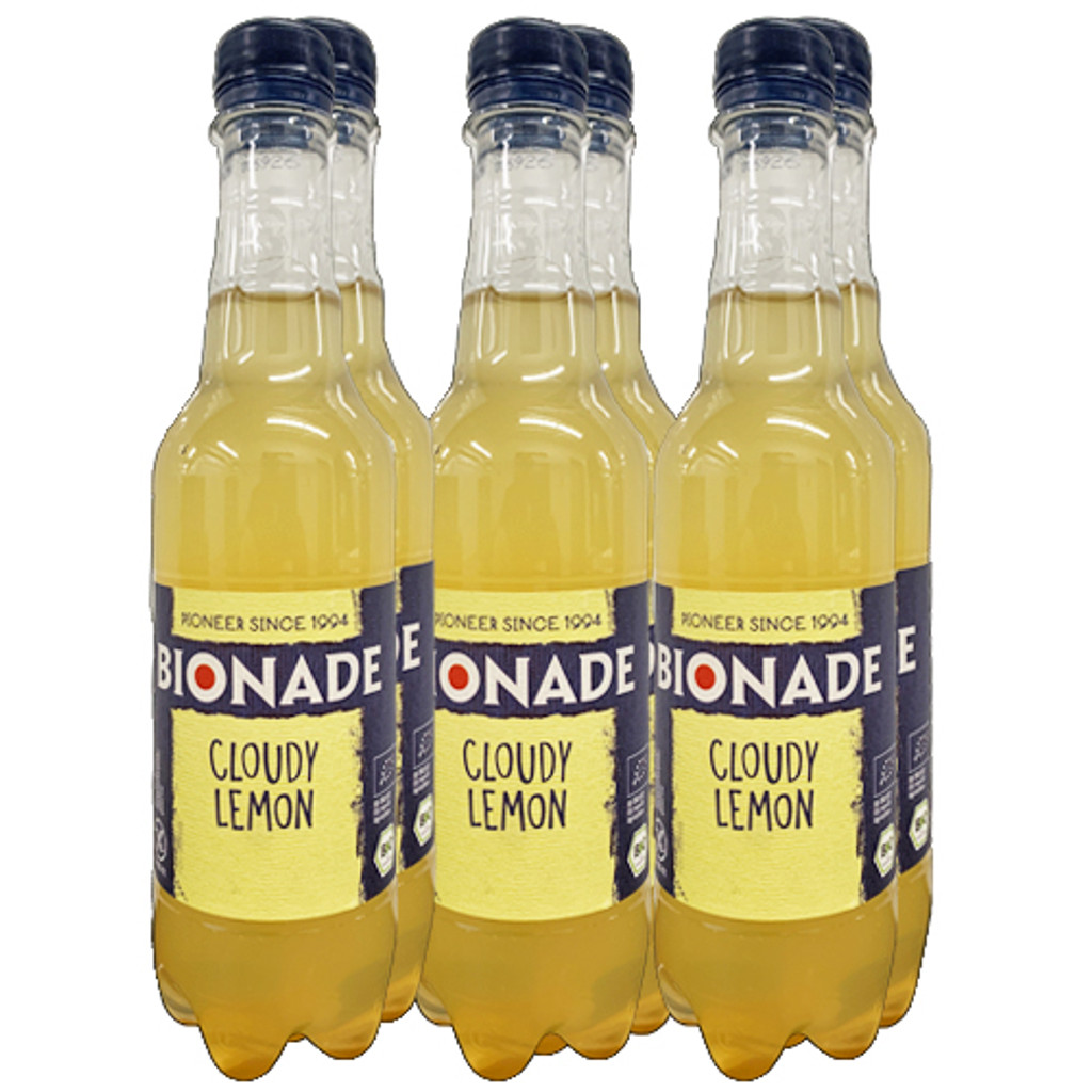 Bionade Organic Cloudy Lemon Soda 16.9 oz - 6 pack