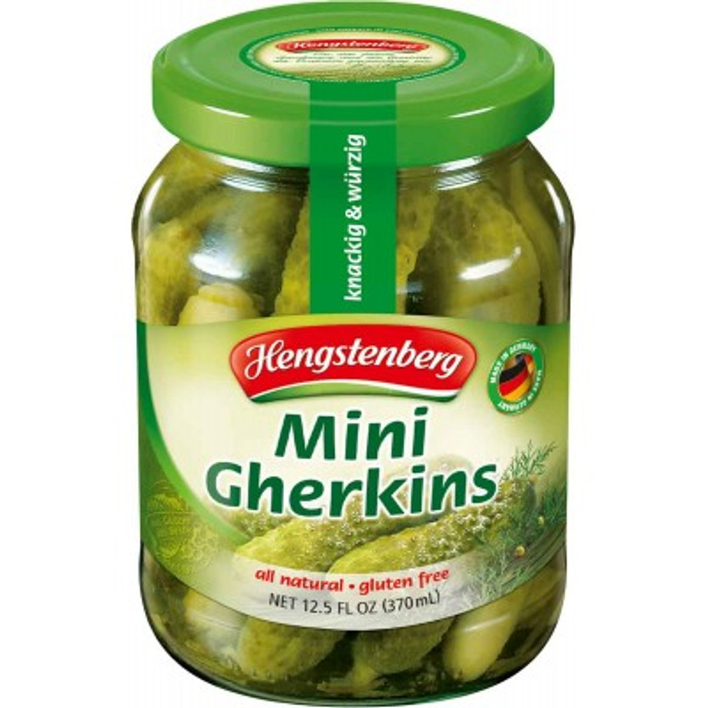Hengstenberg Crunchy Mini Knax Gherkins 12.5 oz