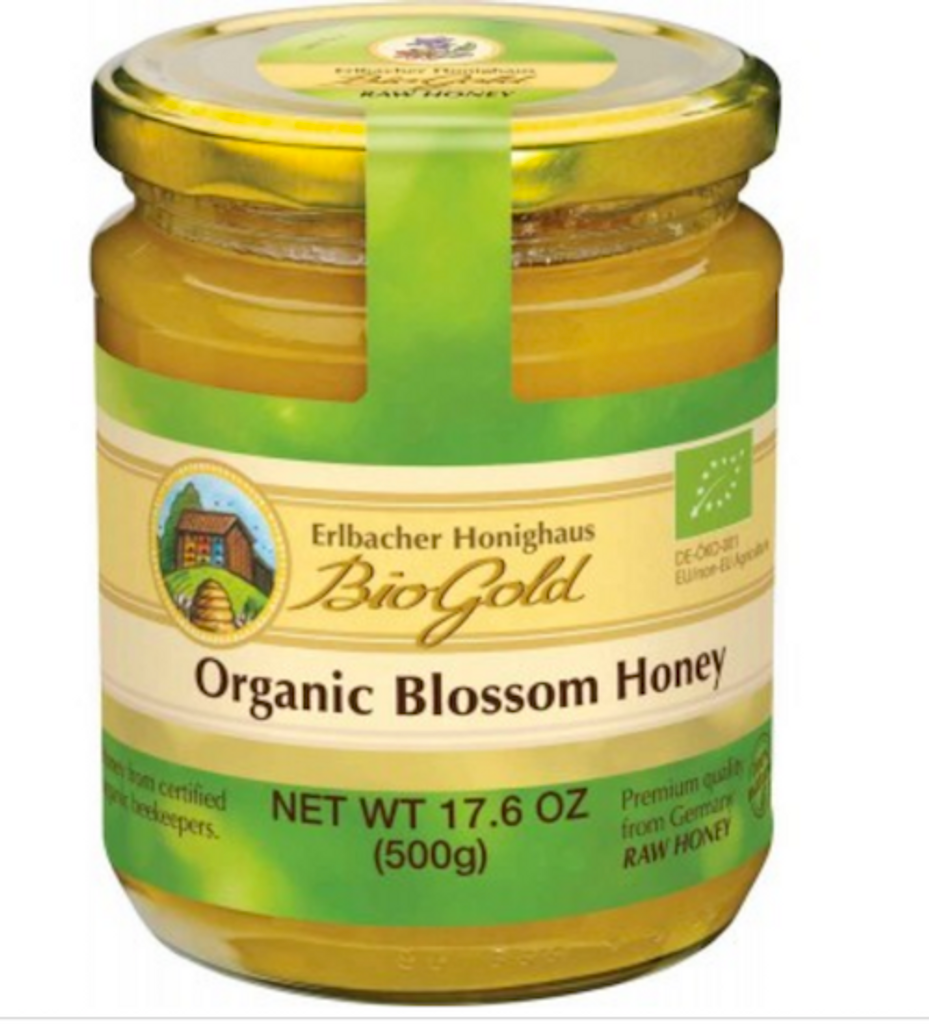 Erlbacher Bio Gold Organic Blossom Honey 17.6 oz