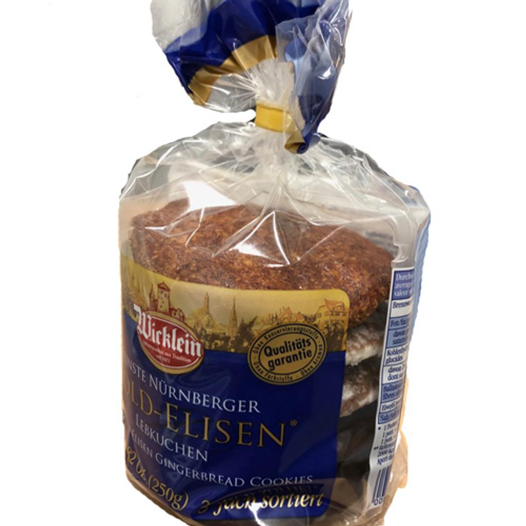 Wicklein Gold Elisen Premium Nuernberg Gingerbread 40% nuts 8.8 oz