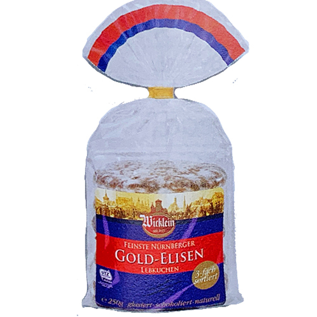 Wicklein Gold Elisen Premium Assorted Nuremberg Gingerbread 40% nuts 8.8 oz
