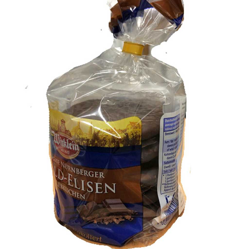 Wicklein Gold Elisen Premium Nuernberg Gingerbread with dark chocolate 40% nuts 8.8 oz