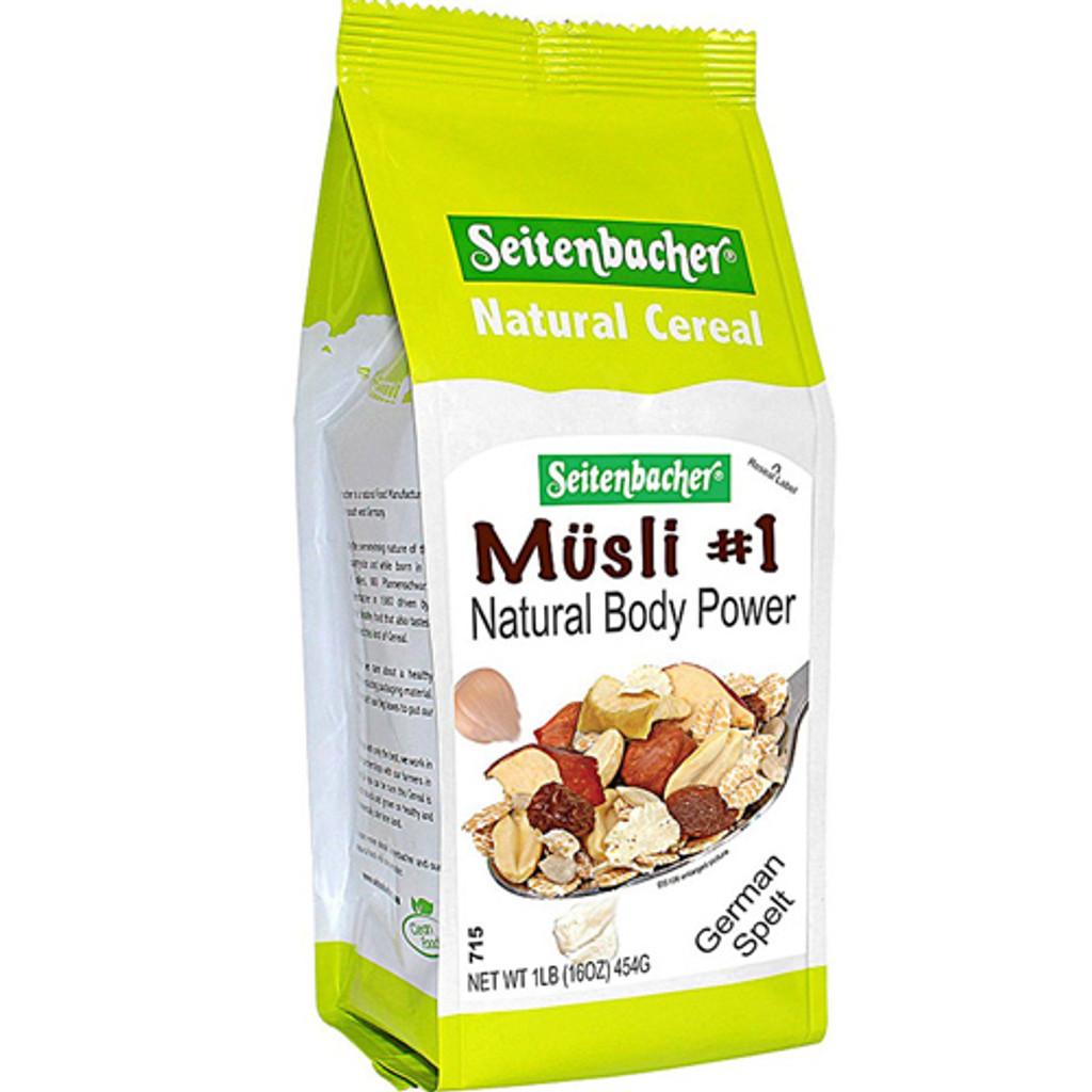 Seitenbacher # 1 Body Power Whole Grain Muesli Cereals with Nuts 16 oz