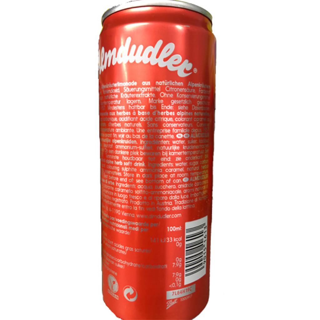 Almdudler Austrian Soft Drink with Alpine Herbs 11.2 fl oz