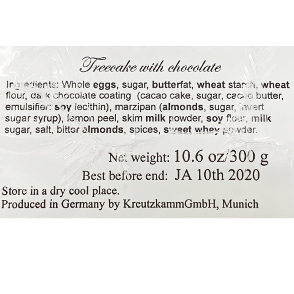 Kreutzkamm Dresdener Baumkuchen in Dark Chocolate Glaze 10.6 oz