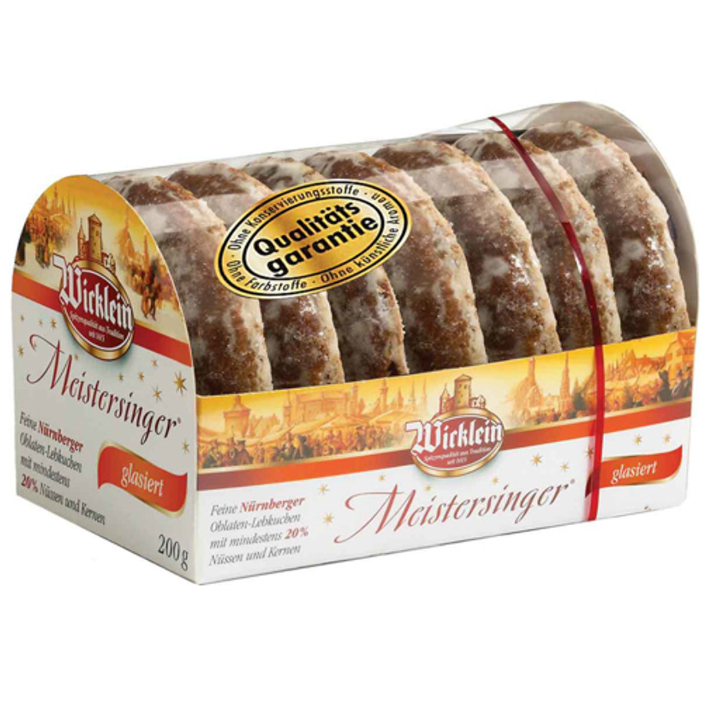 Wicklein Meistersinger Glazed Lebkuchen, min 20% Nuts 7oz