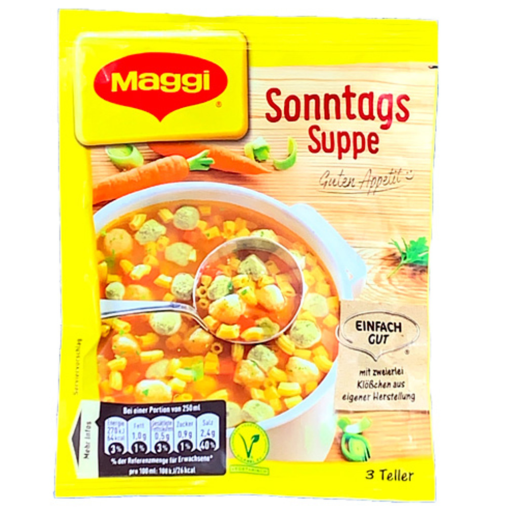 "Maggi ""Sonntagssuppe"" Vegetable Noodle Crouton Soup - 3.5 oz."