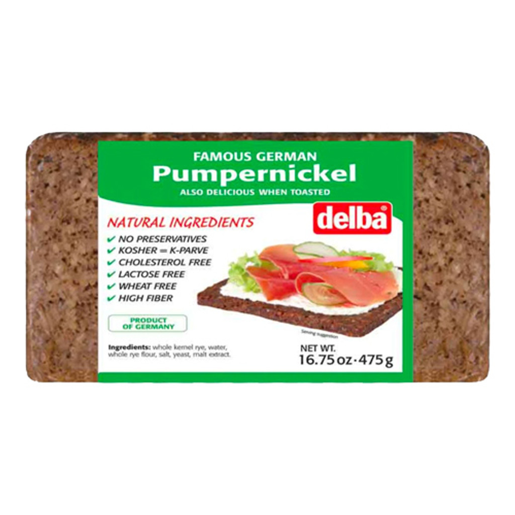 Delba Traditional German Pumpernickel Whole Grain Bread 16.5 oz