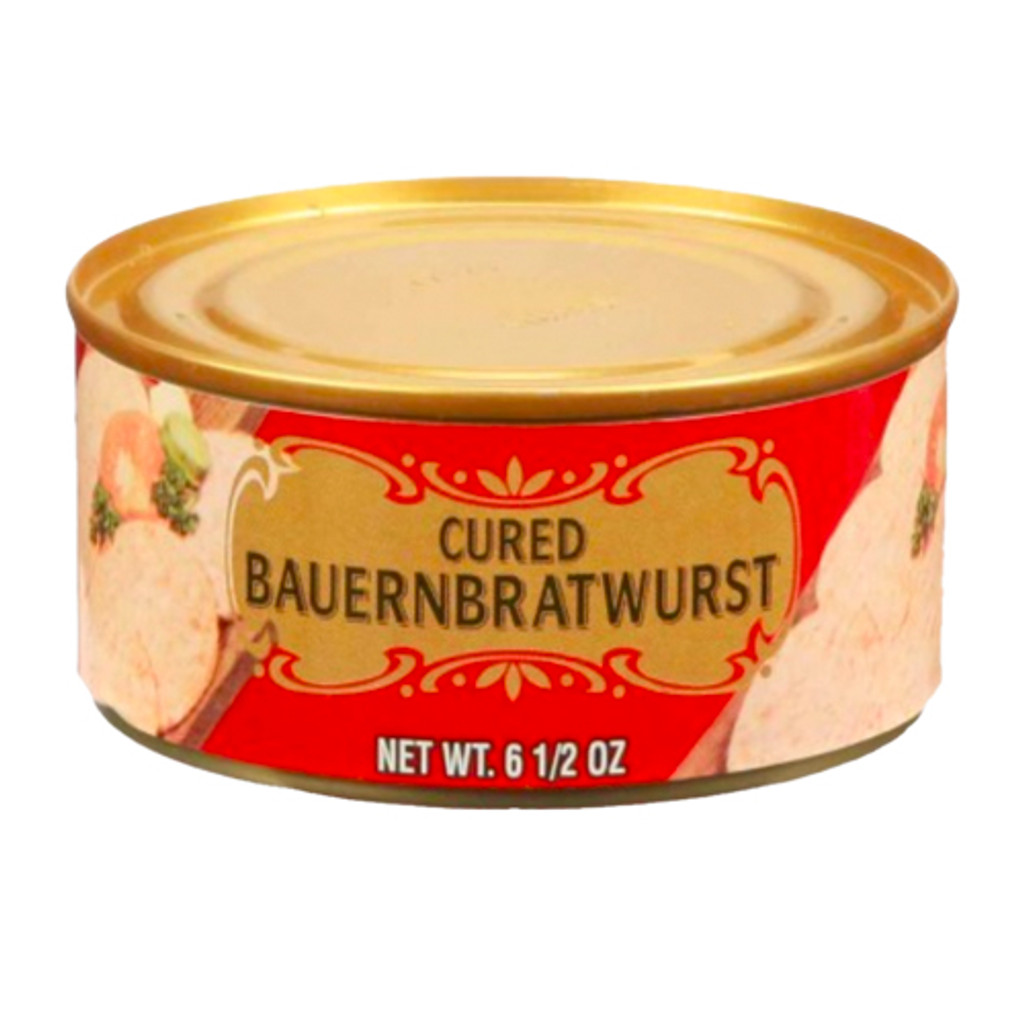 "Geiers ""Farmers"" Bratwurst  in Tin 6.5 oz."