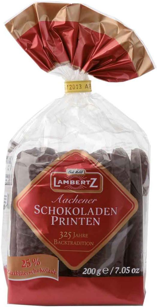 "Lambertz Aachen ""Chocolate Printen ""Lebkuchen in Bag"