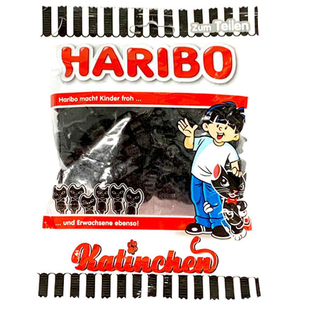 Haribo Katinchen Licorice Cats 7 oz