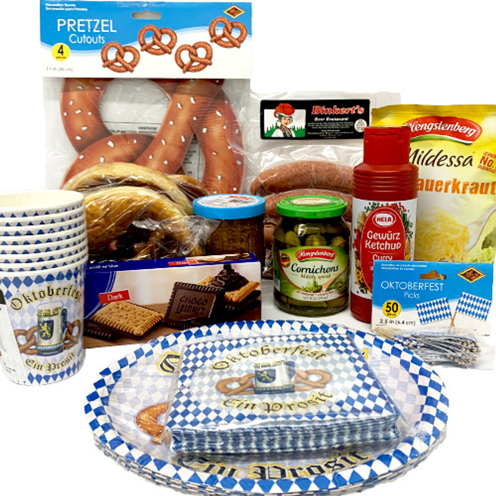 The Taste of Germany Oktoberfest Party Box for 4, with bratwurst, perishable, 12 lbs.