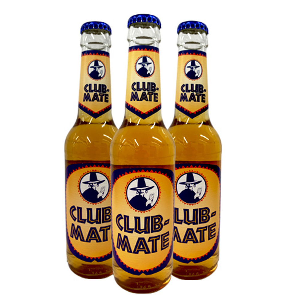 Club Mate Energy Soft Drink with Yerba Mate Tea, 3 bottles x 12 oz.