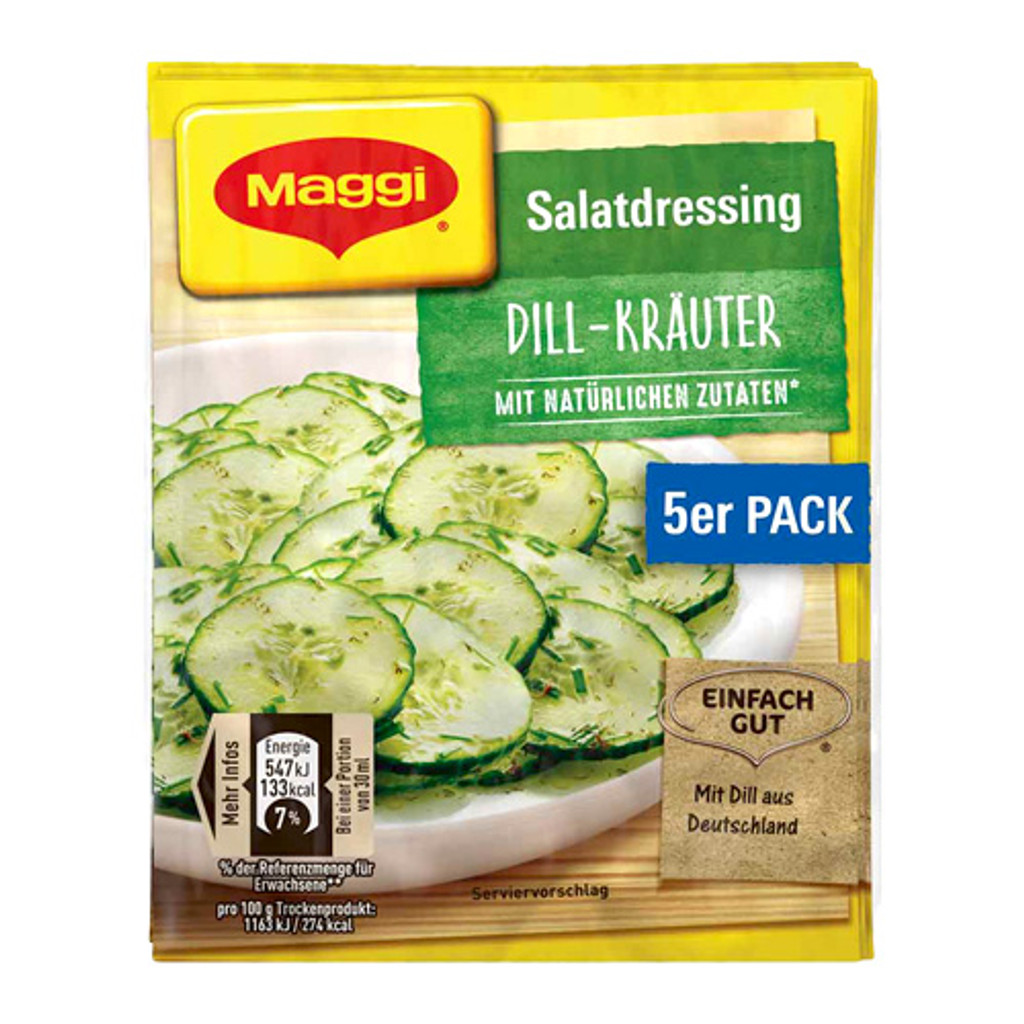 Maggi German Salad Seasonings with Dill, 5 packs, 1.4 oz