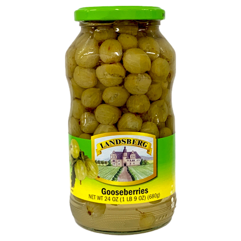Landsberg Whole Gooseberries in glass jar 24 oz.