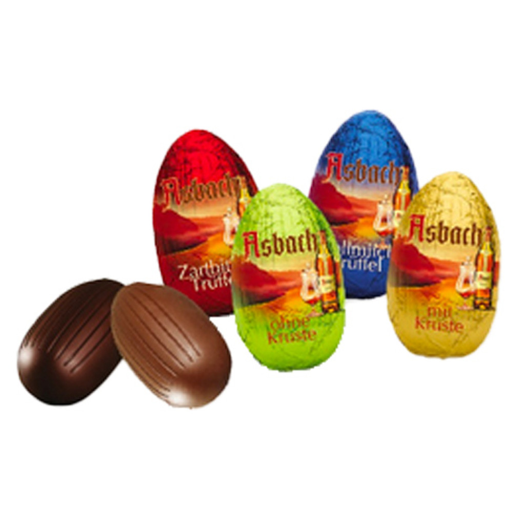 Asbach Easter Chocolate Eggs Filled with Brandy and Sugar Crust  5.3 oz.