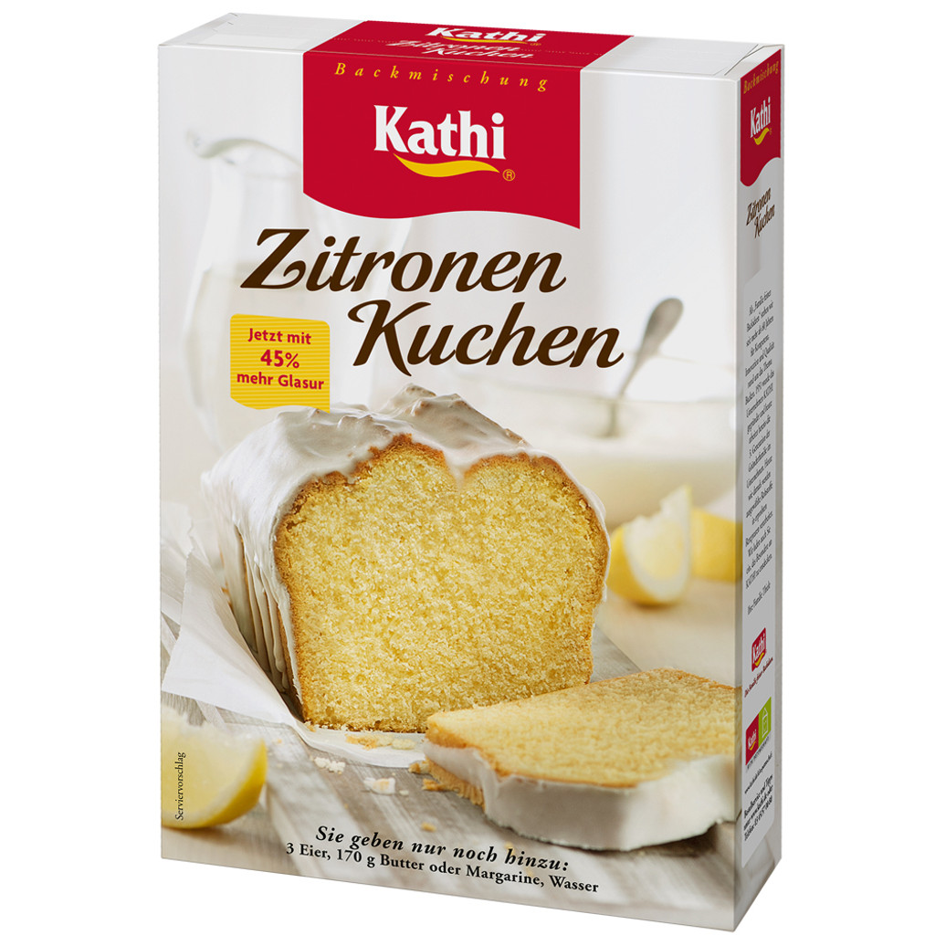 Kathi German Lemon Pound Cake with Lemon Glaze Baking Mix 15.9 oz