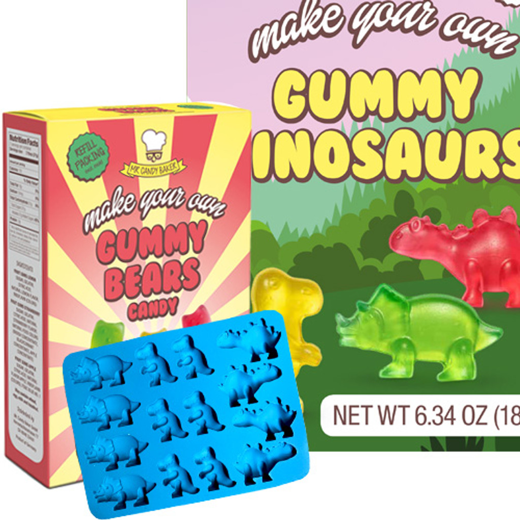 Mr Candy Baker Make Your Own Dinosaur Gummies, 6.3 oz