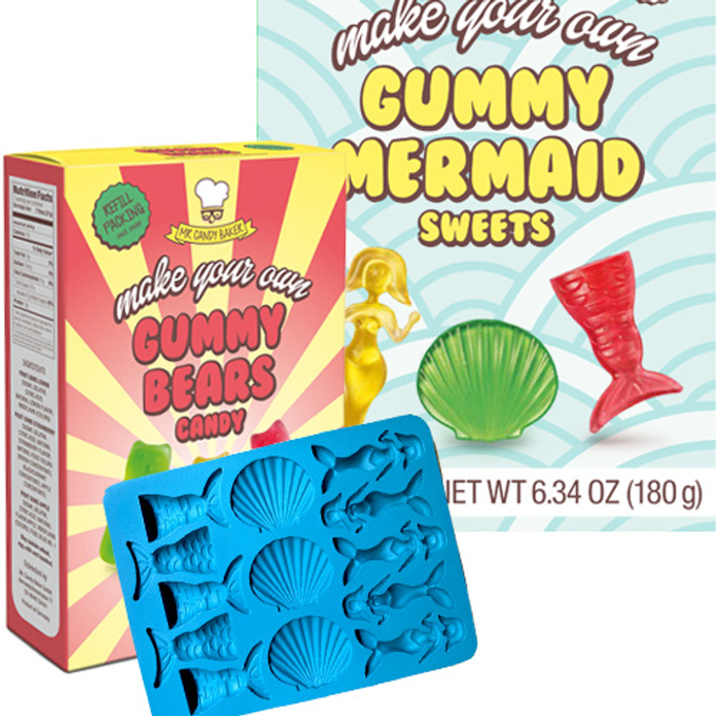 Mr Candy Baker Make Your Own Mermaid Gummies, 6.3 oz