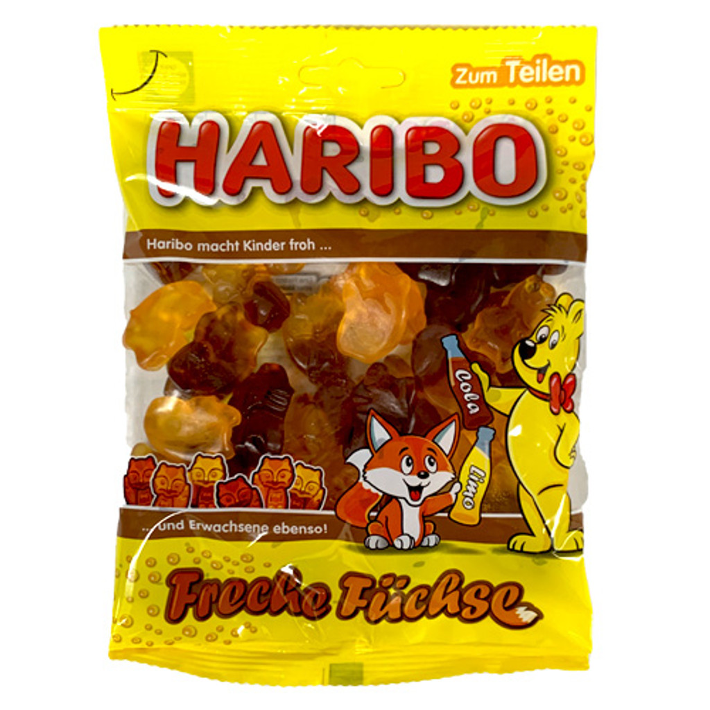"Haribo ""Naughty Foxes"" Cola and Orange Soda Flavors, 7 oz"