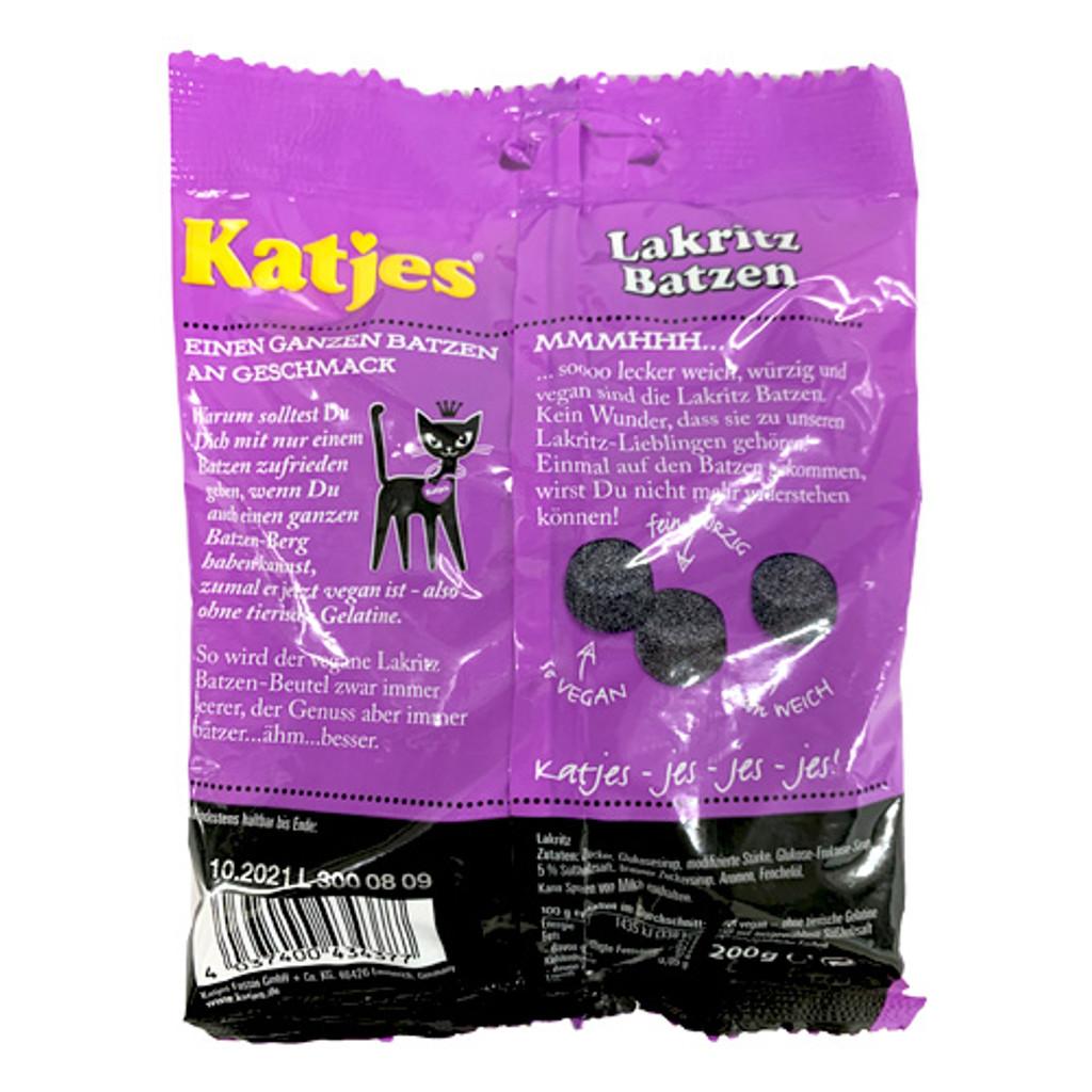 """Katjes """"Katzen Batzen"""" German Licorice Drops,  Vegan, 7 oz"""