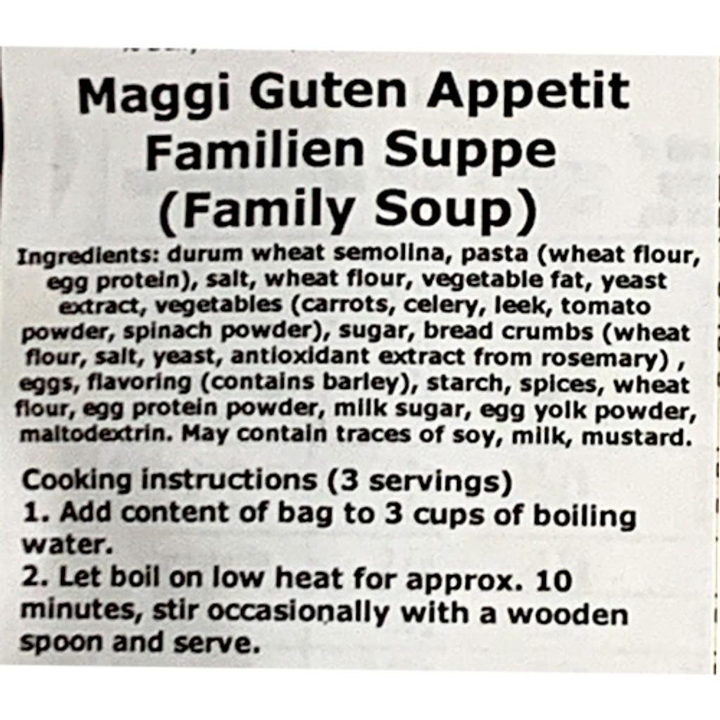 "Maggi ""Familiensuppe"" Vegetable Noodle Soup - 3.5 oz."