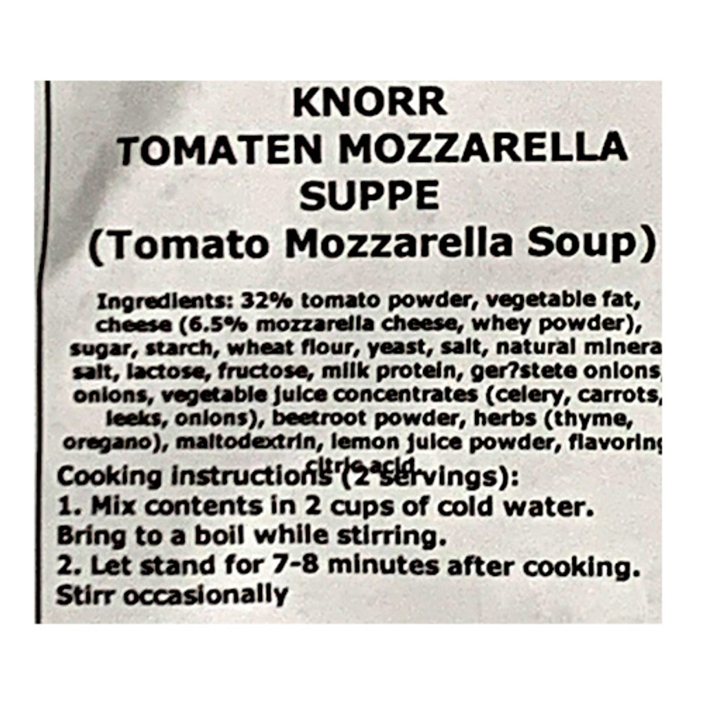 "Knorr ""Feinschmecker"" Tomato and Mozzarella Soup, 2.2 oz"