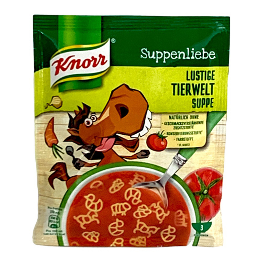 "Knorr ""Suppenliebe"" Animal World Tomato Pasta Soup, 2.5 oz"