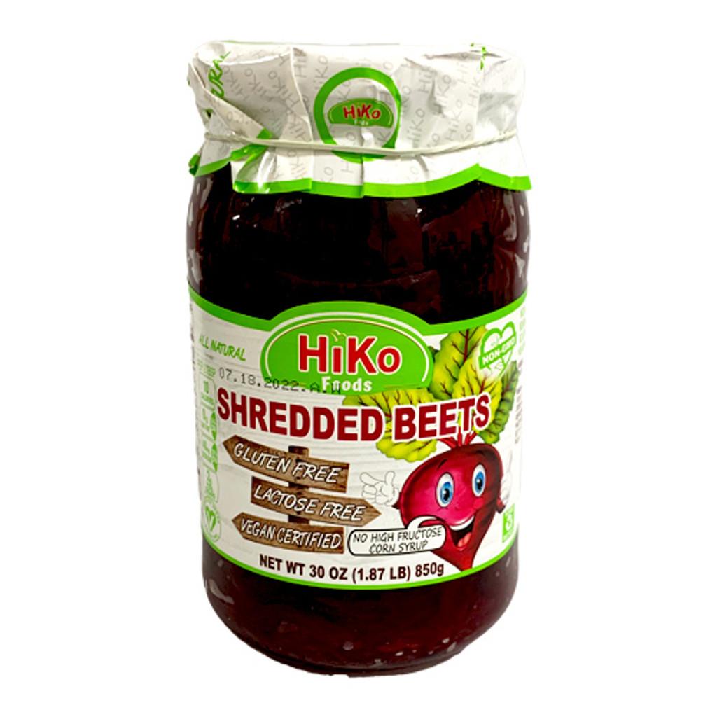 Hiko Shredded Pickled Red Beets in Jar, 30 oz