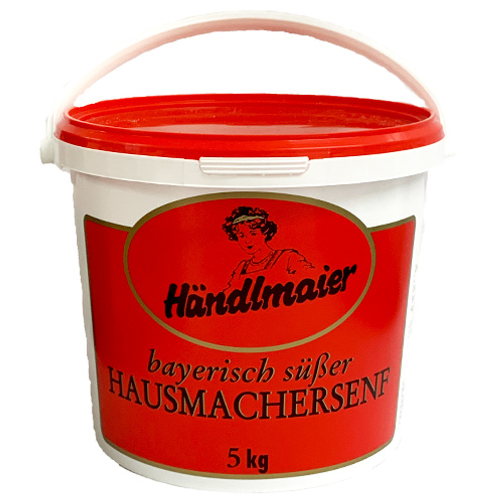 Haendlmaier Sweet Bavarian Mustard, in tub, 11bs.