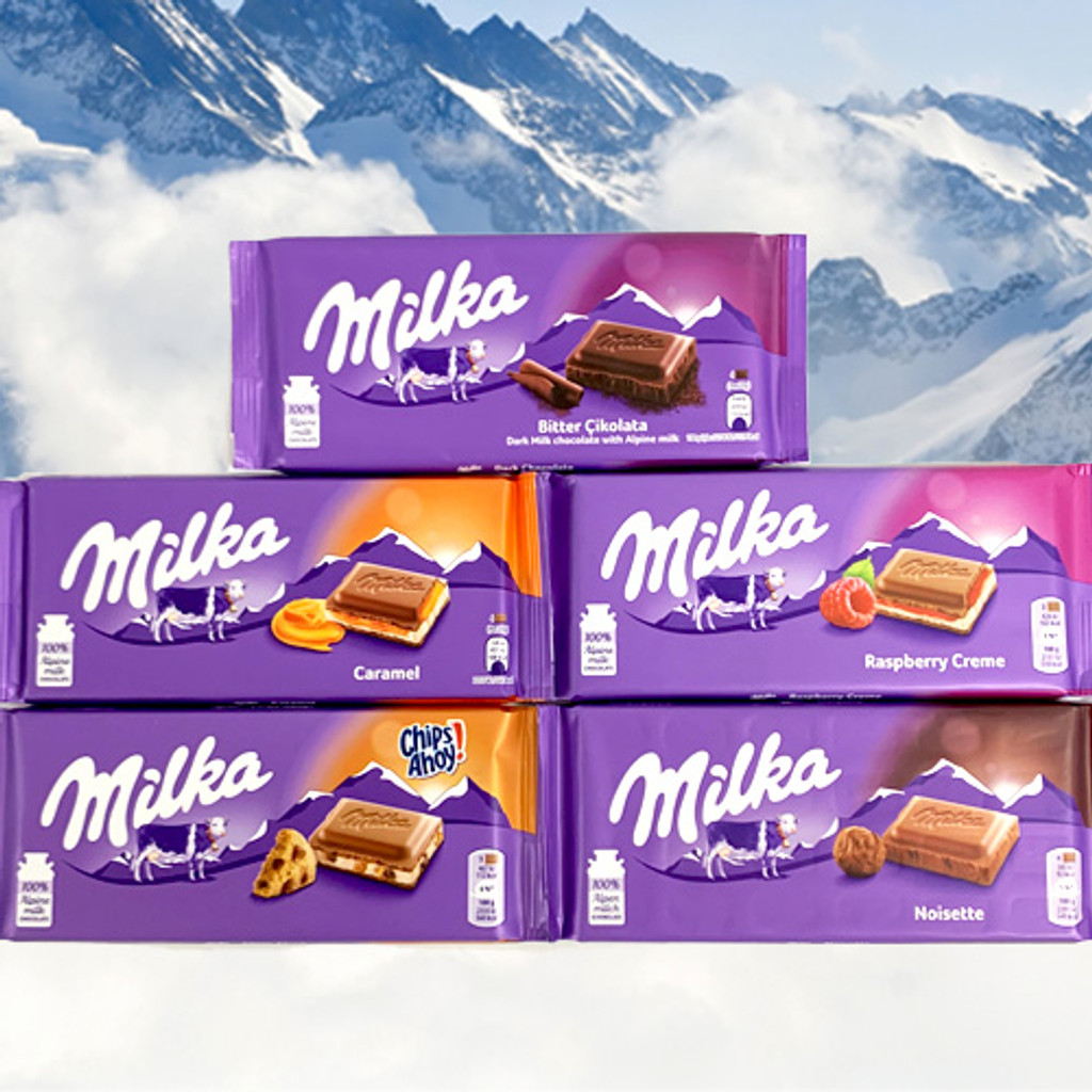 Milka Chocolate 5 Flavor Combination, 17.5 oz