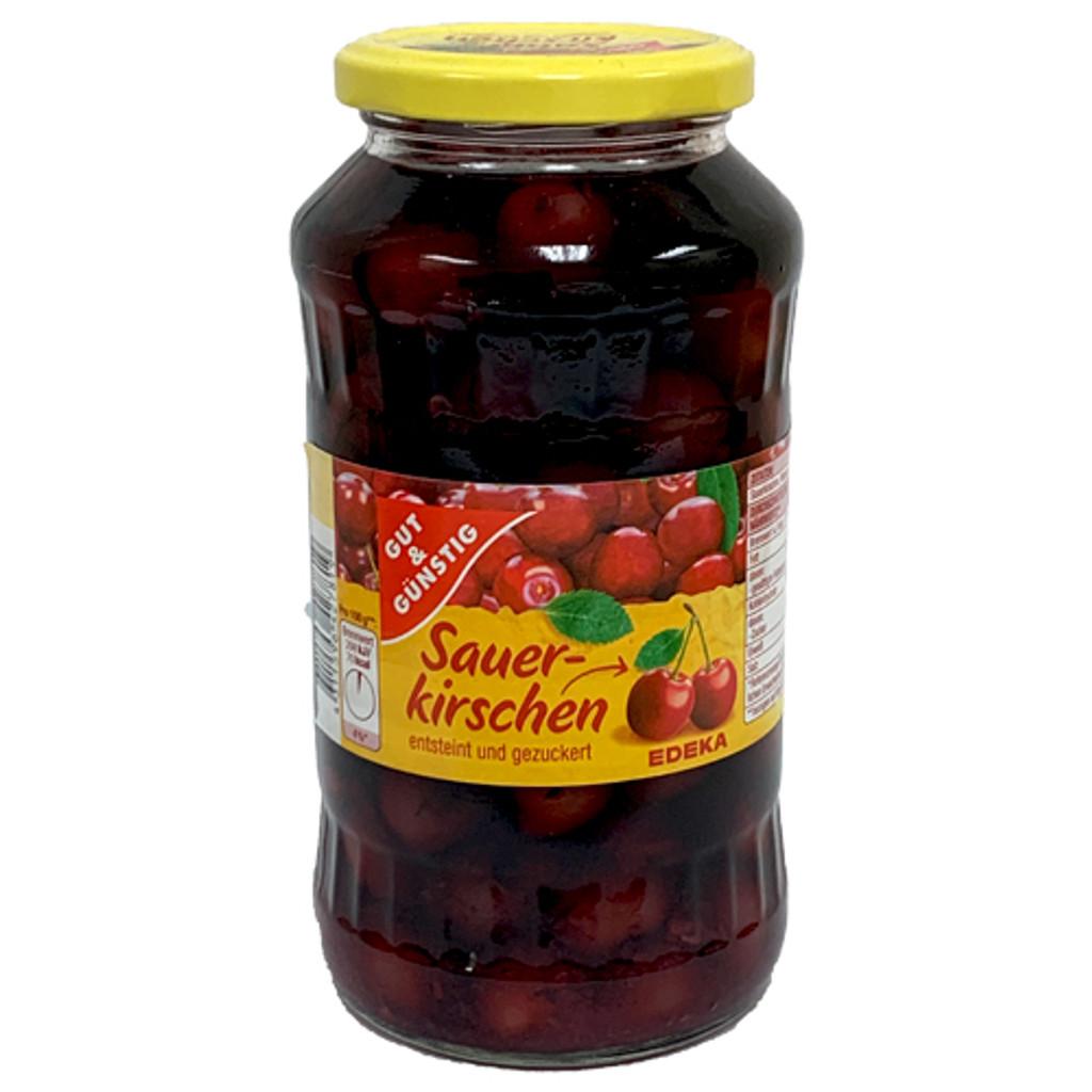 Mamminger Sour Morello Cherries, pitted,  in Glass Jar, 24.3 fl. oz.