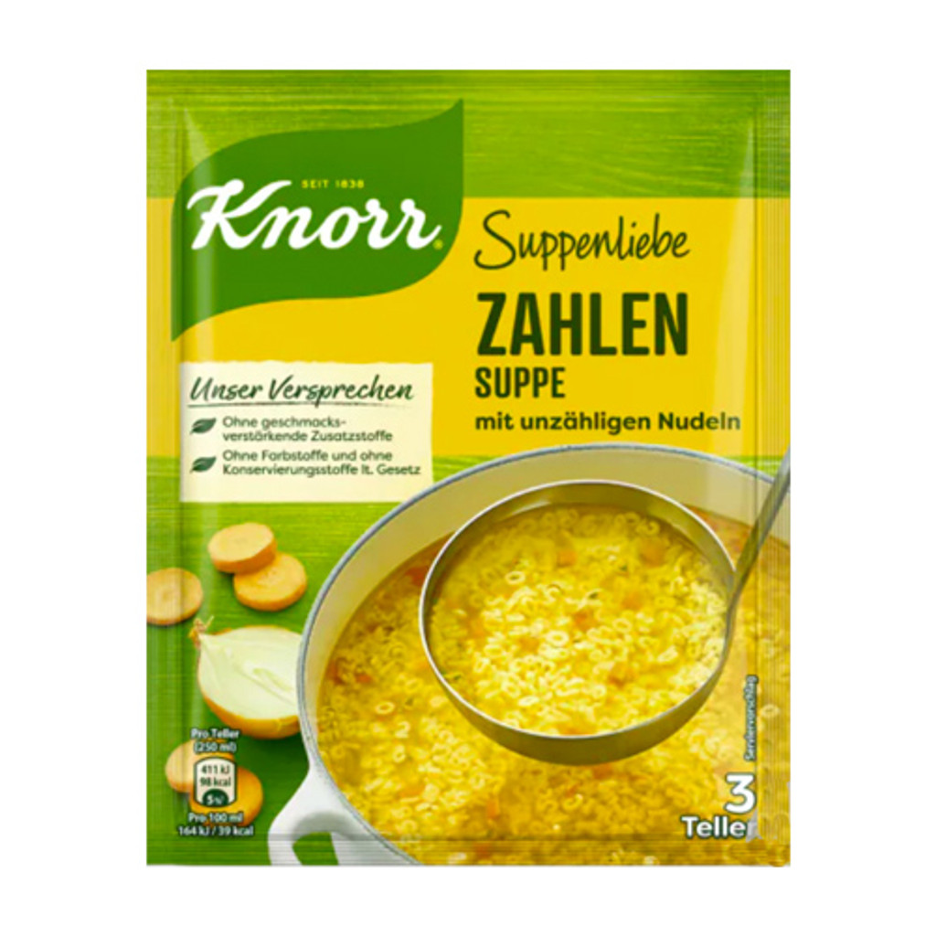 """Knorr """"Suppenliebe"""" Numbers Noodle Soup, 2.9 oz"""
