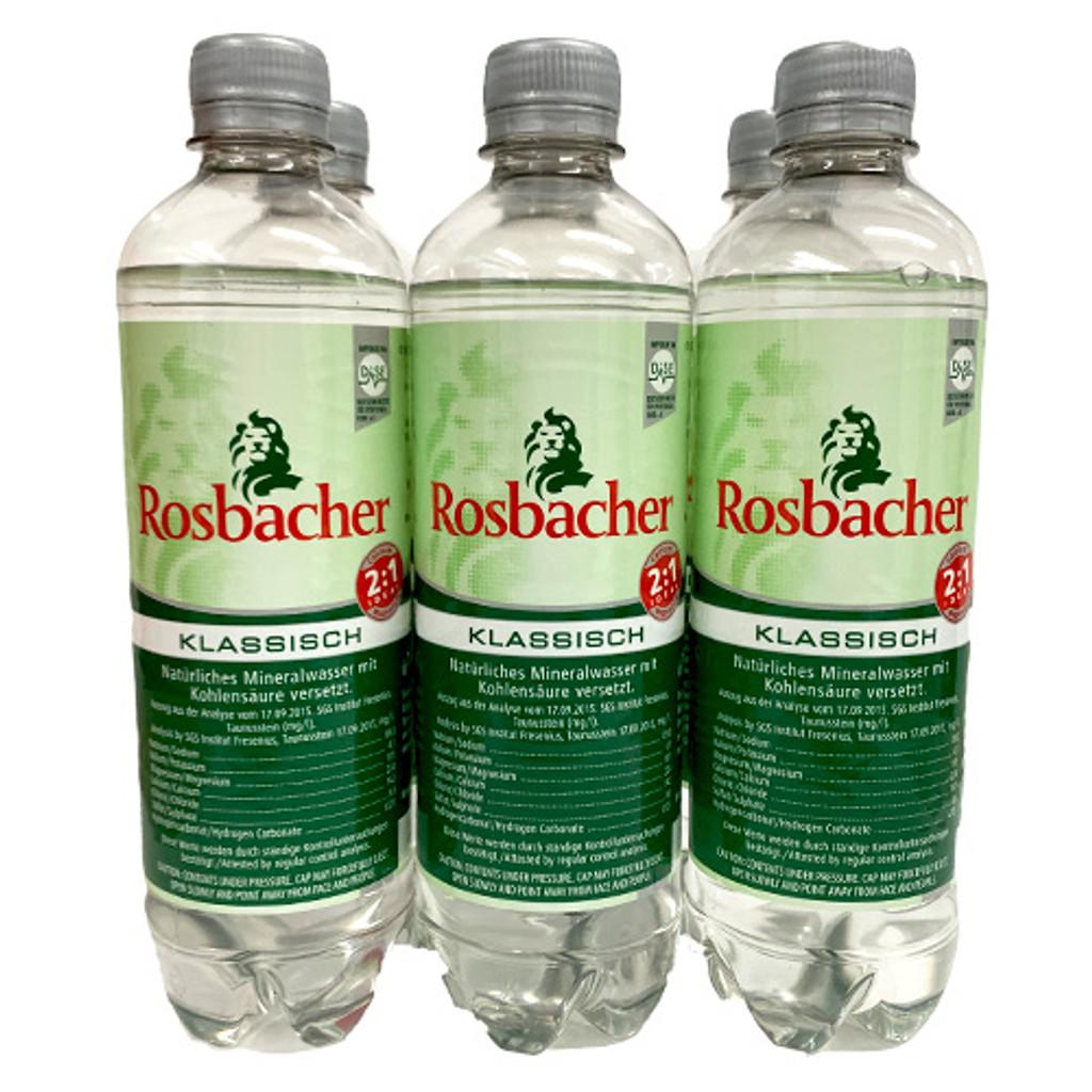 Rosbacher Taunus Mountains Mineral Water, Sparkling, 6 x 16.9 oz