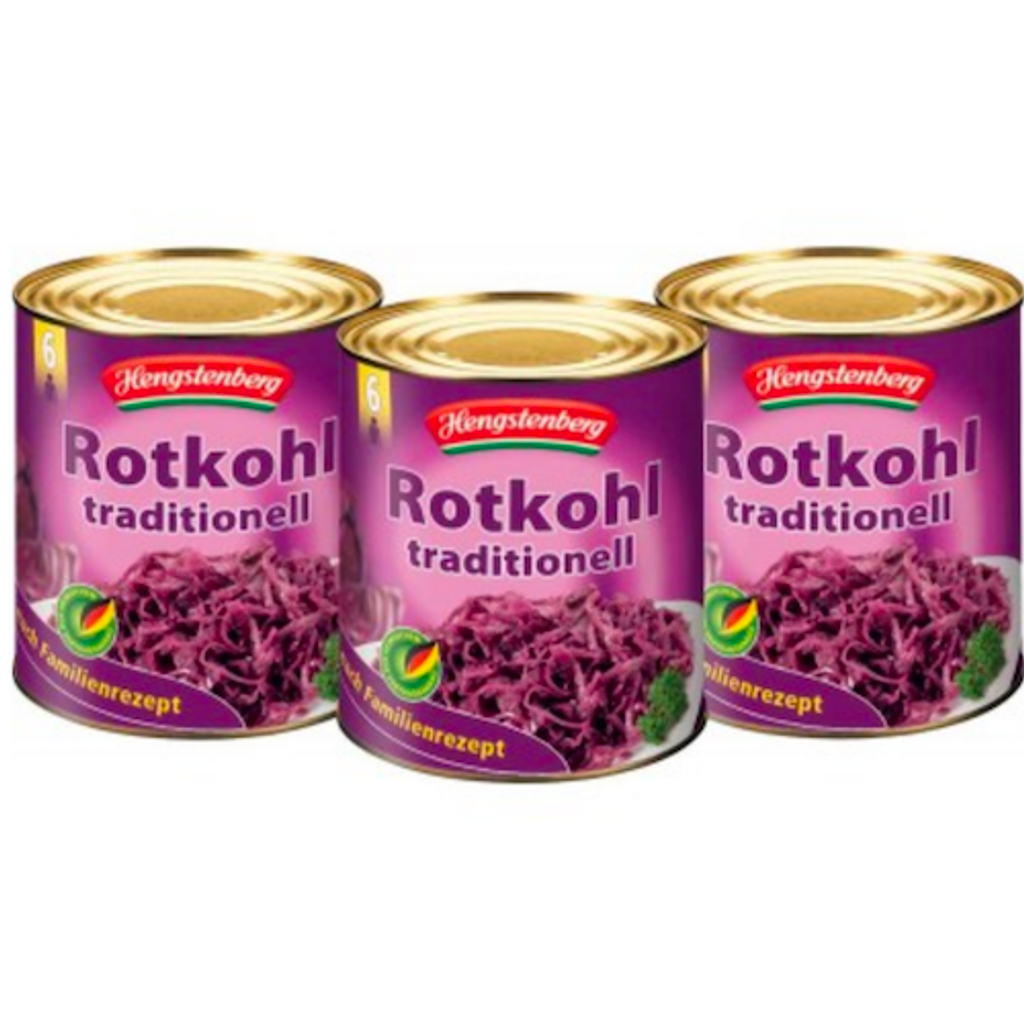 Hengstenberg Red Cabbage 5.6 lbs. Food Service Tins (Case of 3)