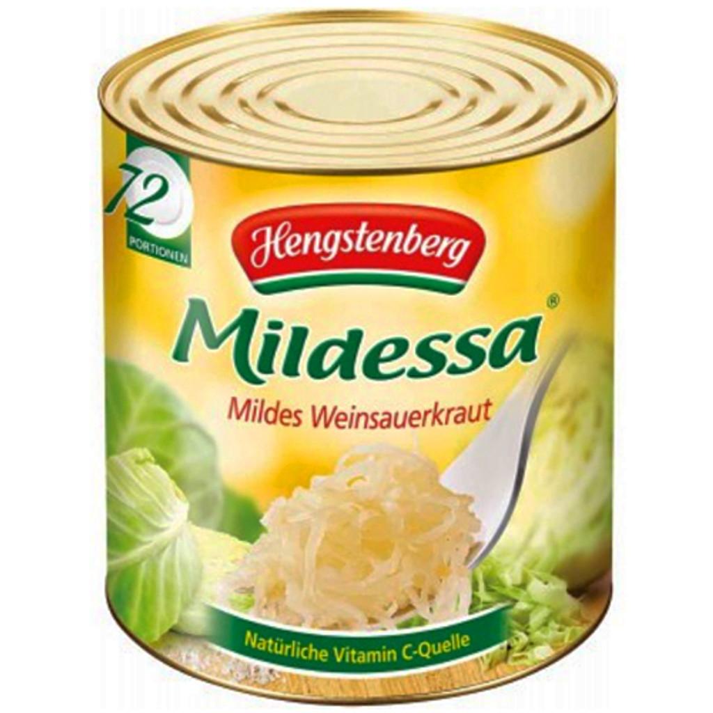 Hengstenberg Mildessa Wine Sauerkraut Food Service Tin 342 oz