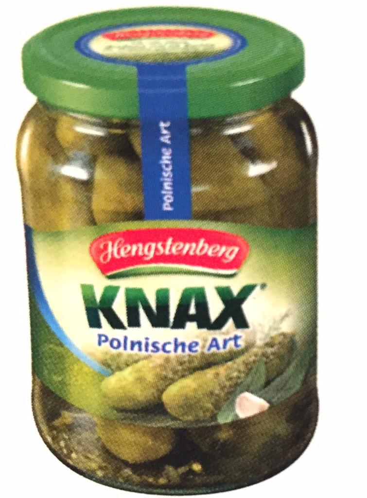Hengstenberg Knacks Crunchy Gherkins Polish style in Jar 23.6 oz