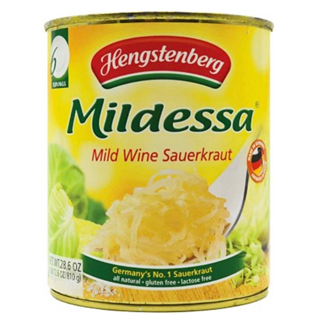 Hengstenberg Mildessa Bavarian Wine Sauerkraut in Tin 28.6 oz.