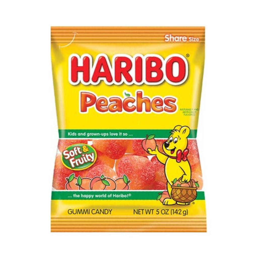 Haribo Peaches Gummies in Bag
