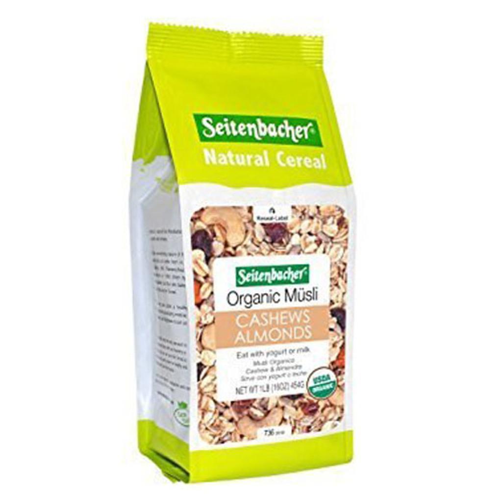 Seitenbacher Organic Muesli Cashews & Almonds Wheat Free 16 oz.