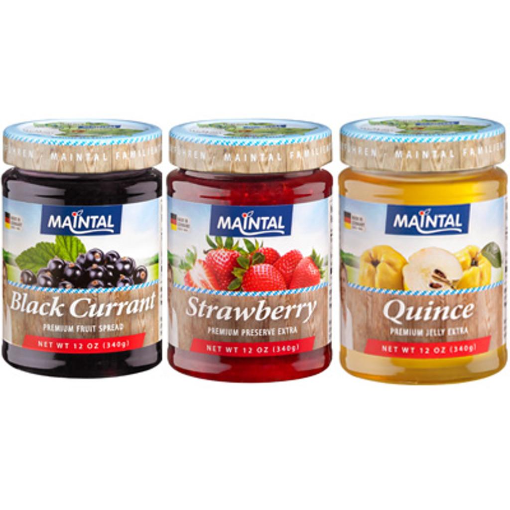 """Maintal """"Black-Red-Golden"""" Premium Fruit Preserves"""