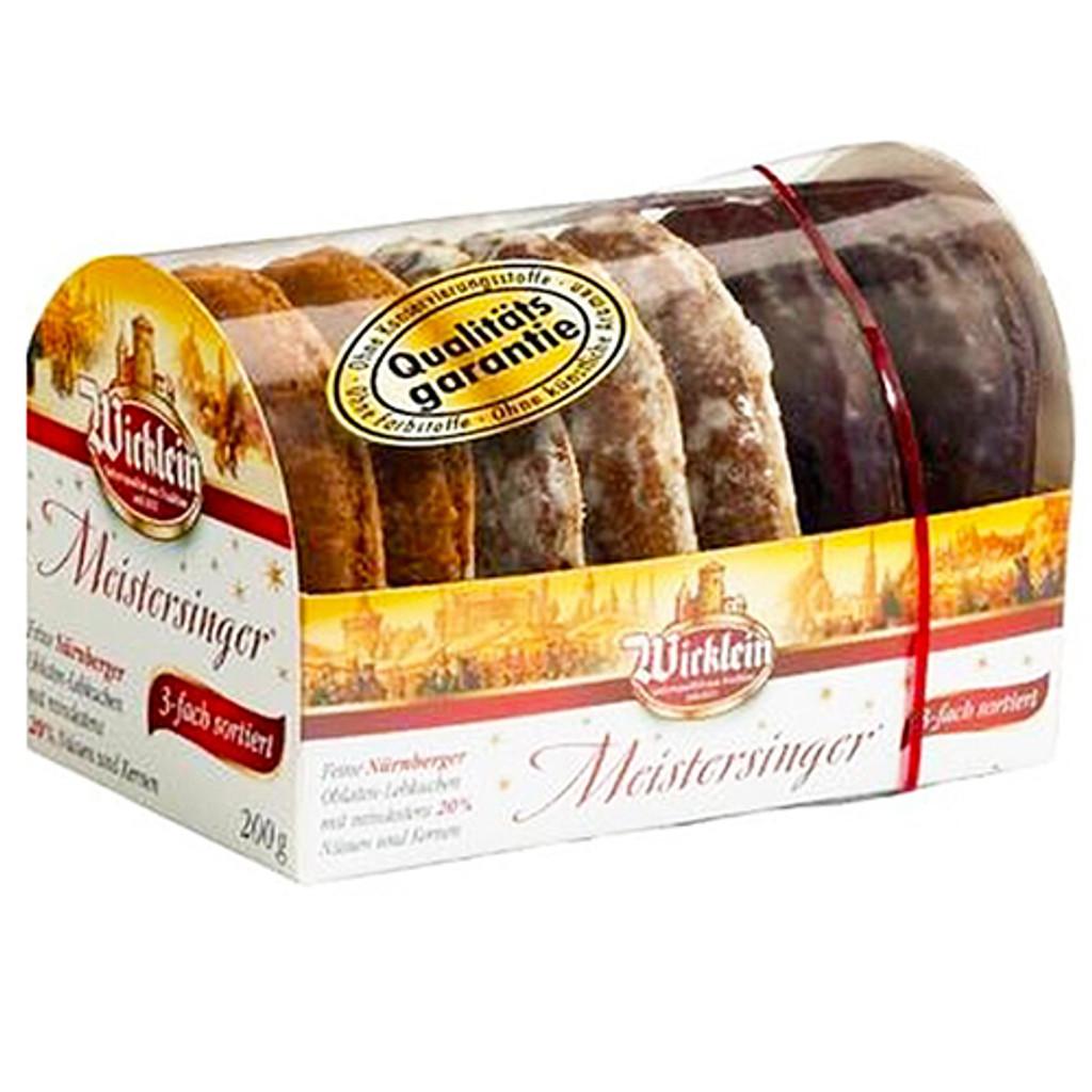 Wicklein Meistersinger Lebkuchen Assorted min 20% Nuts 7oz