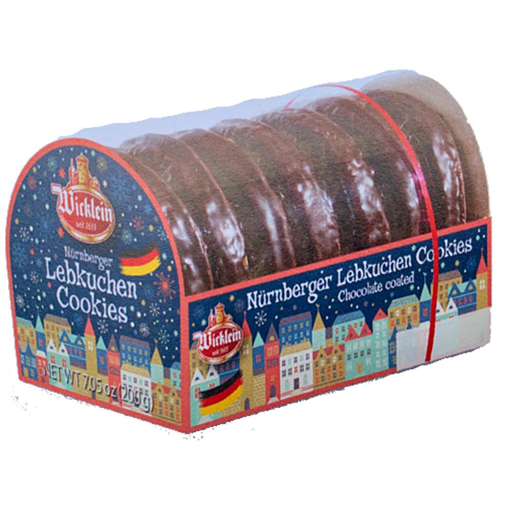 Wicklein Oblaten Lebkuchen with Chocolate 14% Nuts, 7 oz