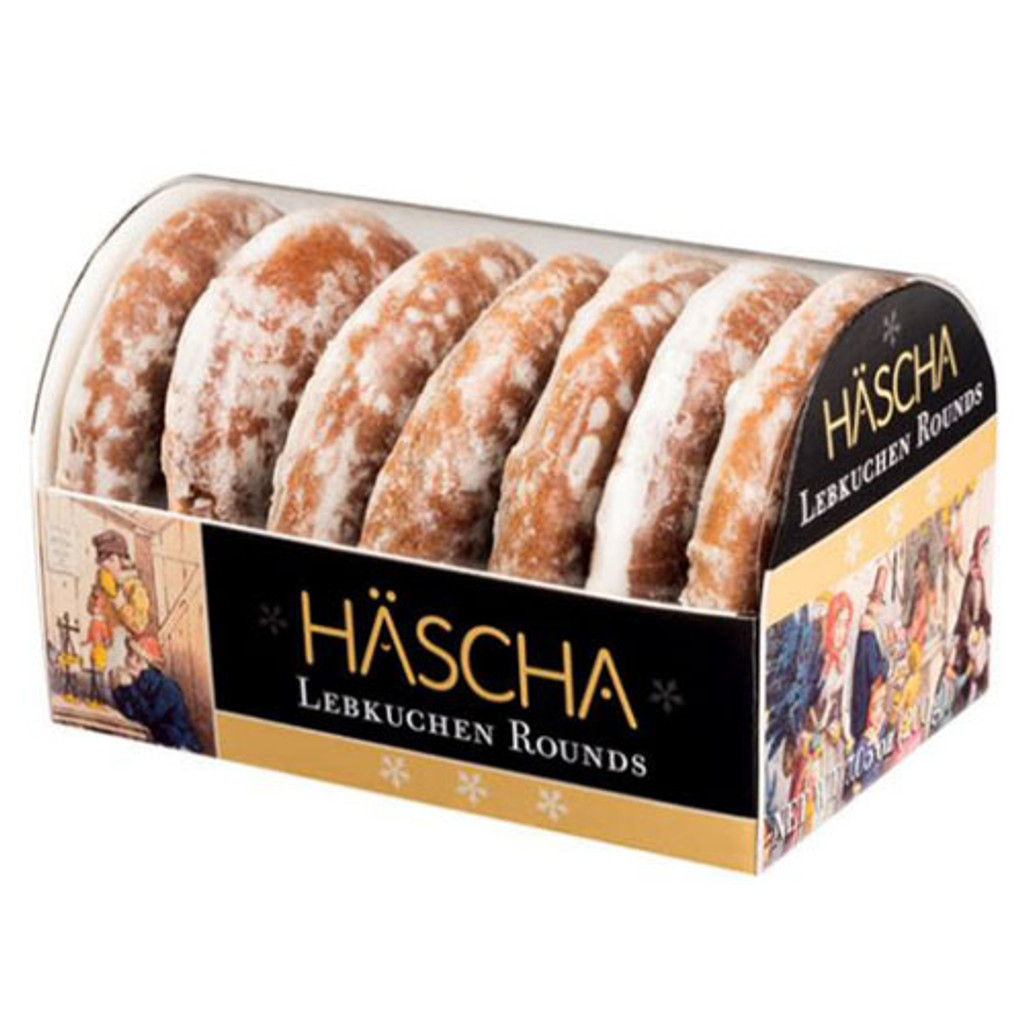 Haescha Lebkuchen Rounds Sugar Iced 7 oz
