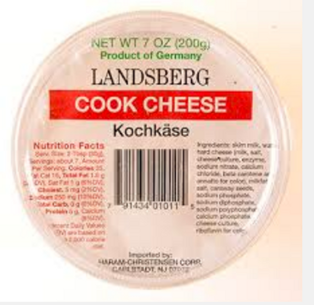 Landsberg German Kochkaese (Cooking Cheese) 12 ct. 7 oz.