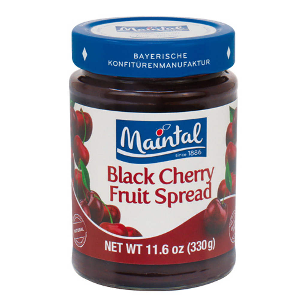 Maintal Bavarian Black Cherry Fruit Spread 12 oz